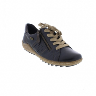 Remonte R4717-14 Ladies Blue Combination Shoes With Zipper